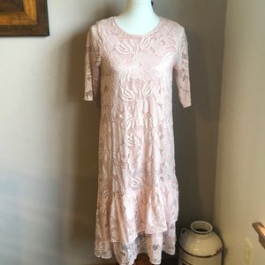 Beautiful soft pink lace dress